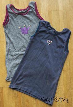 Unterhemden aus alten Shirts / Underwear made from old shirts / Upcycling