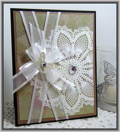 Using Hello, Doily stamp from Stampin Up