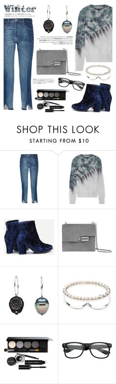 """""""Sweater weather"""" by littlehjewelry ❤ liked on Polyvore featuring Frame, Raquel Allegra, Bobbi Brown Cosmetics, contestentry, pearljewelry, wintersweater and littlehjewelry"""