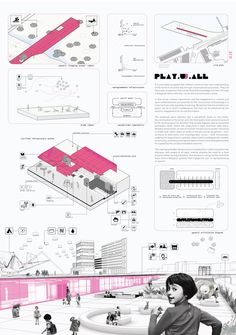 Amsterdam children's playschool, Caraíba – Beta Architecture Concept Board Architecture, Architecture Presentation Board, Architecture Panel, Architecture Graphics, Architecture Design, Stadium Architecture, Architecture Sketchbook, Victorian Architecture, Architecture Student