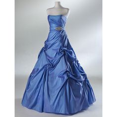 This would be a gorgeous color for a wedding.  Custom size ball gowns: Taffeta Dress/Bridesmaid Dress/Evening Prom Dress found on Polyvore
