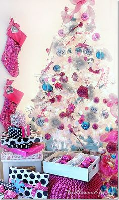 Personalized Christmas Stocking and a Pink-a-Palooza Tree