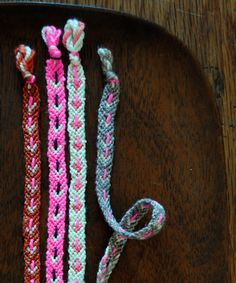 Molly's Sketchbook: Valentine's FriendshipBracelets - The Purl Bee - Knitting Crochet Sewing Embroidery Crafts Patterns and Ideas!