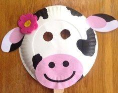 Farm Animal Crafts, Farm Crafts, Animal Crafts For Kids, Vbs Crafts, Fun Crafts For Kids, Toddler Crafts, Paper Plate Masks, Paper Plate Animals, Paper Plate Crafts