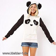 Damen Panda Hoodie Sweater