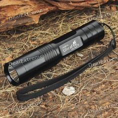 18%OFF + White LED Flashlight with Strap + Free Shipping