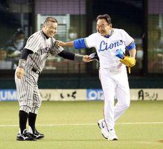 Masayuki Kakefu (Hanshin Tigers) and Osamu Higashio (Seibu Lions)