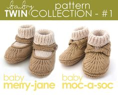 Sweet baby knit booties pattern