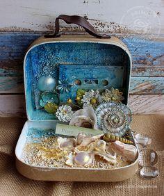Riikka Kovasin - Paperiliitin: Summer treasure suitcase - GDT Finnabair Creative…