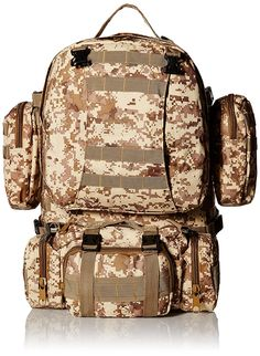 Bencore Capacity Mountaineering Travel Backpack Desert Digital Camo Large *** Check out the image by visiting the link. Carry On Size, Digital Camo, Cool Backpacks, Camping And Hiking, Mountaineering, Travel Backpack, Best Deals, Bags, Vacation Ideas