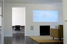 Love the idea of using a projector instead of a TV
