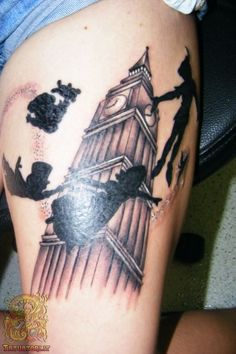 peter pan tattoo silhouette - Google Search