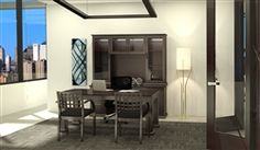 This luxurious executive furniture set from the Cherryman Emerald collection features a spacious writing desk and elegant rear wall credence with glass accented hutch. Furniture Deals, Office Furniture, Home Office Design, Little Houses, Office Interiors, Storage Solutions, Luxury Homes, Design Inspiration, Writing Desk