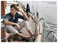 Mathias Lauridsen is Cool in Mens Denim Styles for AG Jeans Spring 2015 Campaign Ag Jeans, Daria Werbowy, Barefoot Men, Nautical Fashion, Fine Men, Denim Fashion, Preppy Fashion, Fashion Spring, Curvy Fashion