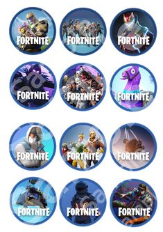 Premium Fortnite Printable Ediable Cupcake Toppers Game Battle Royale Gamer kids Party Birthday Favors Party Food Level up Season 5 10th Birthday Parties, Birthday Favors, Birthday Party Decorations, Boy Birthday, Birthday Invitations, Party Favors, Rainbow Birthday, Birthday Cake, Party Printables