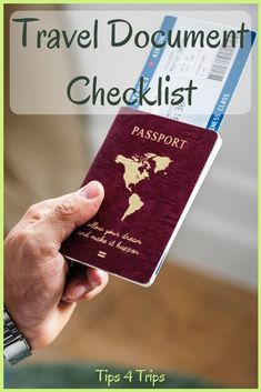 The Must-Have International Travel Document Checklist (with Printable) - Travel Tips International Travel Checklist, Travel Document Organizer, Travel Abroad, Trips Abroad, Ways To Travel, Travel Hacks, Travel Advice, Travel Quotes, Packing List For Travel