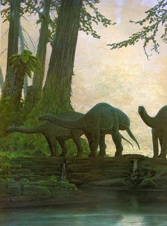 Vintage Dinosaur Art: De Oerwereld van de Dinosauriërs - Part 2