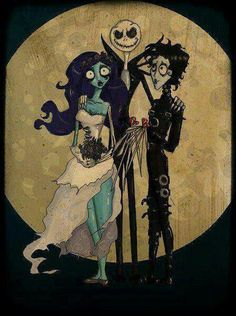 Tim Burton!! Jack Skellington & corpse bride