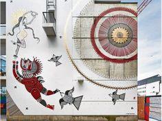 Traumwelten und Fabelwesen entwirft das Künstlerduo Jana Joana & Vitché, die ihr Wohnviertel in ein Märchenreich verwandeln.