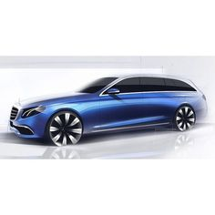 Mercedes-Benz (S213) E-Class Estate Official Sketch by http://ift.tt/1qWdyOy