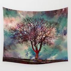 Wall Tapestries featuring Calm before the Storm by Klara Acel