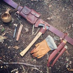 "1,099 Likes, 43 Comments - Raven Wilderness School (@jeffhatch) on Instagram: ""Fully loaded belt kit #bushcraft"""