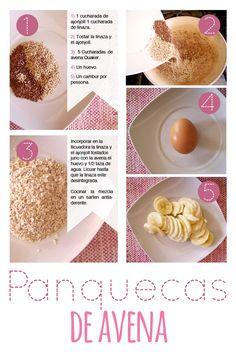 Prueba y disfruta la #Receta del día #Pancakes #Avena.