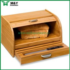 wooden-bamboo-bread-box-with-drawer-MY.jpg (600×600)