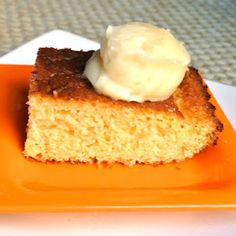 Gluten Free Cornbread with whipped honey butter.