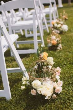 It's summer and it's time turn on the brights! If you are having a summer wedding, go for a bright wedding aisle – don't hesitate to rock bold flowers, ribbon and petals! Wedding Ceremony Ideas, Wedding Aisle Decorations, Decor Wedding, Wedding Bride, Afternoon Tea Wedding, Tea Party Wedding, Aisle Style, Spring Wedding Inspiration, Wedding Chairs