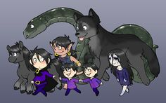 Loki and His Children by humon.deviantart.com    I have quite the fondness for Sleipnir and Hela.