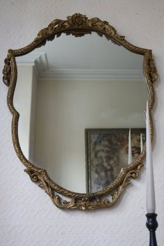 Large Ornate Vintage French Gilt Gesso Mirror by ArthurandEde