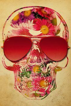 Skull Flowers - UrbanArts
