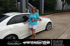 https://flic.kr/p/Hmp4mY | Happy Anniversary to Rhonda on your #Mercedes-Benz #C-Class from David Stewart at Autos of Dallas! | deliverymaxx.com/DealerReviews.aspx?DealerCode=L575