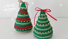 Welcome to our colorful and beautiful world of crochet. Today we are going to learn a very beautiful crochet technique that will guarantee yo Crochet Christmas Decorations, Christmas Tree Painting, Christmas Crochet Patterns, Crochet Christmas Ornaments, Crochet Toys Patterns, Amigurumi Patterns, Handmade Christmas, Christmas Crafts, Crochet Ideas