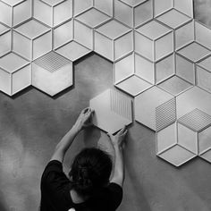 Hexagon concrete tiles molds silicone cement brick wall molds TV background tiles mold Wall brick molds - Home Decor Ideas