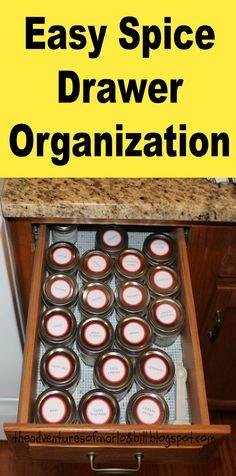 Spice Drawer Organization made easy!