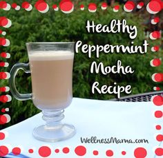 Peppermint Mocha Recipe  This heathy peppermint mocha recipe combines coconut oil, butter and peppermint essential oil.