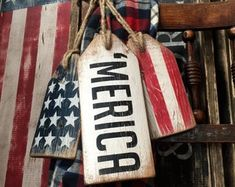 Christmas Decor, Winter Decor, Cabin Sign, Let It Snow Wood Tags Sign Rustic Cabin Decor Distressed Snowflake, Hanukkah Rustic Sign Set Rustic Cabin Decor, Rustic Signs, Farmhouse Decor, Country Decor, Rustic Cabins, Lodge Decor, Log Cabins, St Patrick's Day Decorations, Patriotic Decorations