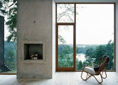 Park ranger's cabin (!) in Grimeton-Torstorp, Halland county, Sweden, by Strata Arkitektur (aka Petra Gipp & Katarina Lundeberg)
