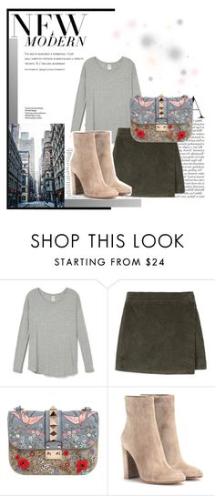 """""""Modern Muse"""" by twinklepink ❤ liked on Polyvore featuring Valentino, Gianvito Rossi, modern, women's clothing, women's fashion, women, female, woman, misses and juniors"""