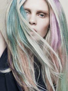 Muted Rainbow Hairstyles #hair #dye