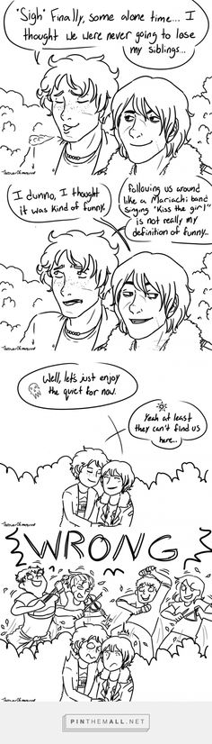 Will and Nico   Solangelo comic by thrower0fmangos   the crazy mariachi band are Will's siblings