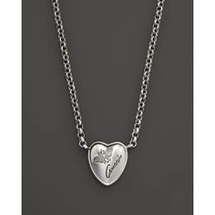 fd24e5e8a Gucci Flora Silver Heart Necklace, 16.5