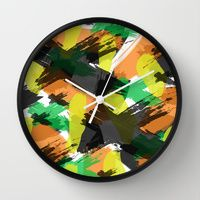Wall Clock featuring Cara by Gonpart