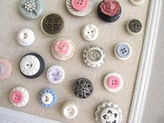 Vintage button magnets. Pass me the Gorilla Glue.