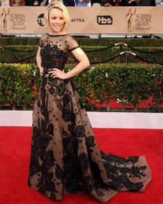 Rachel McAdams wears ELIE SAAB Haute Couture Spring Summer 2015 to the 22nd annual Screen Actors Guild Awards in Los Angeles.