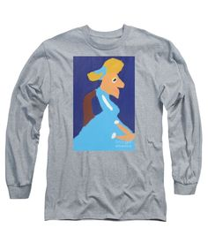 Patrick Francis Designer Long Sleeve Heather T-Shirt featuring the painting Portrait Of Adeline Ravoux - After Vincent Van Gogh by Patrick Francis