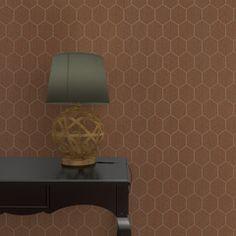 Optez pour une déco des plus chics avec cet intissé KENEO.   Ultra tendance, la couleur cuivre illumine votre intérieur de ses délicats reflets. Le motif hexagonal raffiné apporte du relief dans votre intérieur. Le rendu est sophistiqué, majestueux, empreint d'élégance.