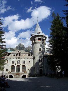 Neo Gothic Savoy Castle, Gressoney, Aosta Valley, Italy